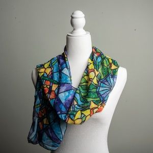 Gorgeous Stained Glass Lightweight Scarf